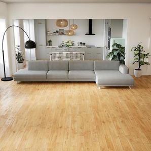 Ecksofa Sandgrau - Flexible Designer-Polsterecke, L-Form: Beste Qualität, einzigartiges Design - 424 x 75 x 162 cm, konfigurierbar