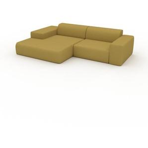 Ecksofa Senfgelb - Flexible Designer-Polsterecke, L-Form: Beste Qualität, einzigartiges Design - 282 x 72 x 168 cm, konfigurierbar