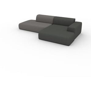 Ecksofa Steingrau - Flexible Designer-Polsterecke, L-Form: Beste Qualität, einzigartiges Design - 296 x 72 x 168 cm, konfigurierbar