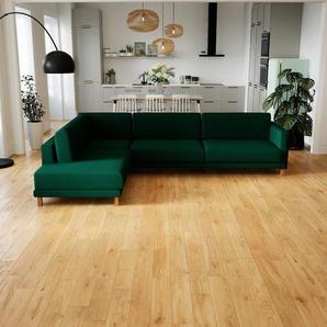 Ecksofa Tannengrün - Flexible Designer-Polsterecke, L-Form: Beste Qualität, einzigartiges Design - 306 x 75 x 214 cm, konfigurierbar