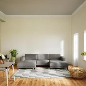 Ecksofa Taupegrau - Flexible Designer-Polsterecke, L-Form: Beste Qualität, einzigartiges Design - 288 x 75 x 162 cm, konfigurierbar