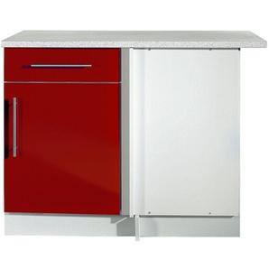 Eckunterschrank , rot, »Aachen«, mit Schubkästen, wiho Küchen