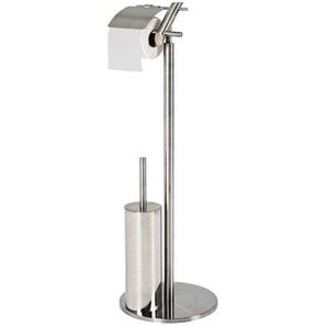 Edelstahl WC Garnitur mit B�rste modern