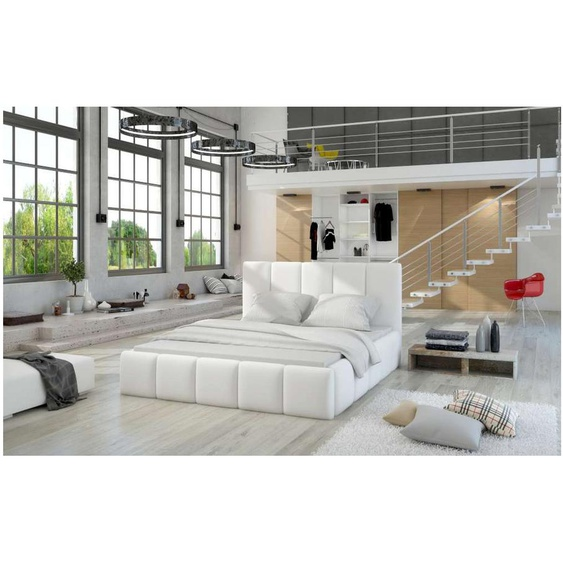 Edvige Polsterbett 190x220x100 cm Weiß