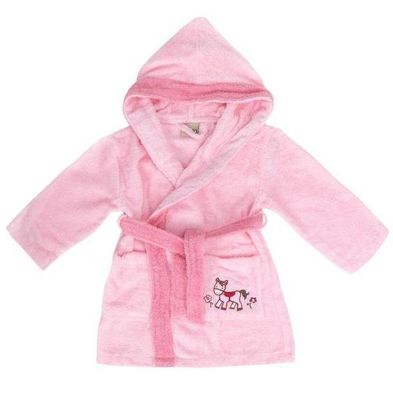Egeria Bademantel Baby «Pony rosa», reine Baumwolle, verschiedene Größen, Stickerei
