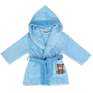 Egeria Bademantel Baby «Teddy Bear blau», reine Baumwolle, verschiedene Größen, Stickerei