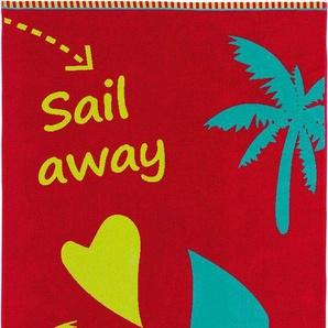 Strandtuch »Sail Away«, Egeria, mit Spruch-Motiv