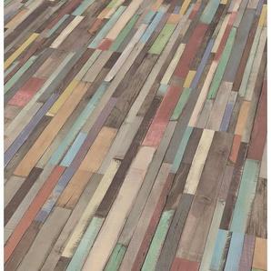 EGGER Laminat »EGGER HOME Dimas Wood bunt«, 1292 x 192 mm, Stärke: 7 mm