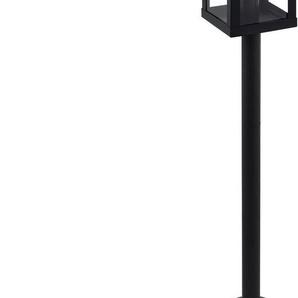 EGLO Außen-Stehlampe »ALAMONTE 1«, schwarz / L15 x H101,5 x B15 cm / exkl. 1 x E27 (je max. 60W) / Außenlampe - IP44 spritzwassergeschützt - Leuchte - Garten - Eingangsbereich - Vintage - Retro - Rustikal - Stehlampe für Außenbereich - witterungsbeständig