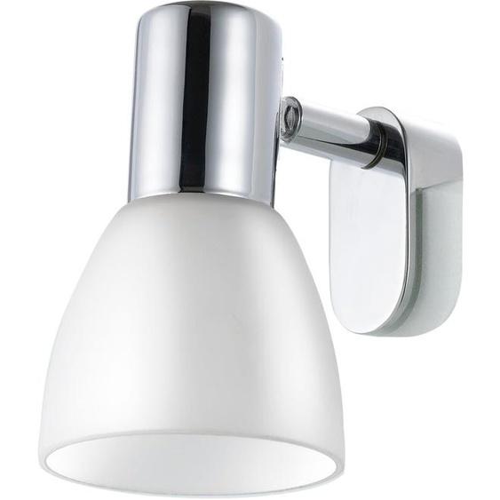 EGLO,Spiegelleuchte STICKER 1 -flg. /, H:11,5 cm silberfarben Bad-Spiegelleuchten Badleuchten Lampen Leuchten