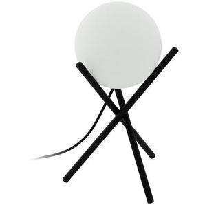 : Tischleuchte, Schwarz, Weiß, H 33