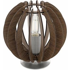 EGLO Tischleuchte »COSSANO«, 1-flammig, mit Holzlamellen