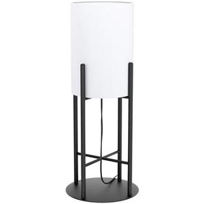 : Tischleuchte, Schwarz, Weiß, H 56,5