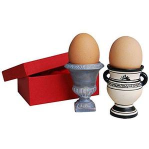Eierbecher (zwei Stück) aus Porzellan 6,5 cm hoch (ohne Ei), Ø 3,9 cm 66071 Amphoren von Inkognito Künstler: INKOGNITO Lidwien Steenbrink Küche & Frühstück Haushalt Dies & Das