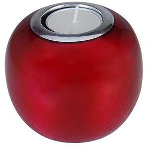 Ein ausgezeichnetes Stück auf einem Schreibtisch, Haus, Bibliothek oder Ihre Lounge zu haben Kosma Recycling Aluminium Teelicht Kerzenständer | Kerzenständer in einer roten Farbe Emaille Finish - 10x10x9.5cm