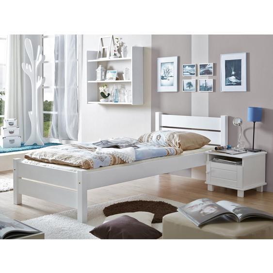 Einzelbett Bora Kiefer Weiß 100 cm x 200 cm