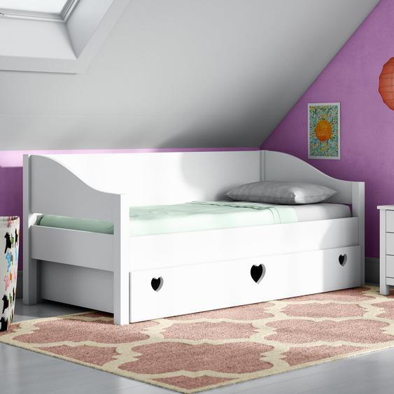 Einzelbett Elsa mit Unterbettschublade, 90 x 200 cm