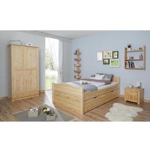 Einzelbett Leni 120x200 Kiefer massiv - mit 2er Schubkästen - natur