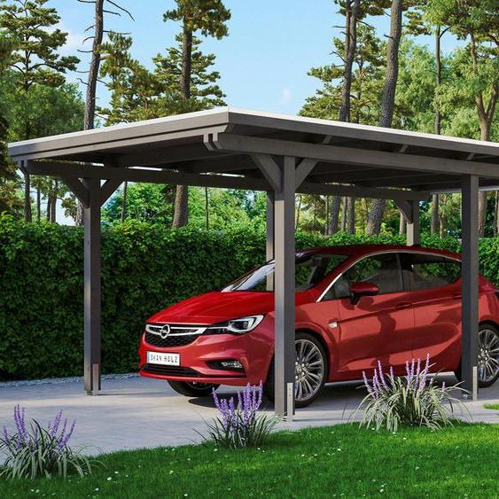 Einzelcarport »Emsland«, Skanholz, Material Fichtenholz, Aluminium