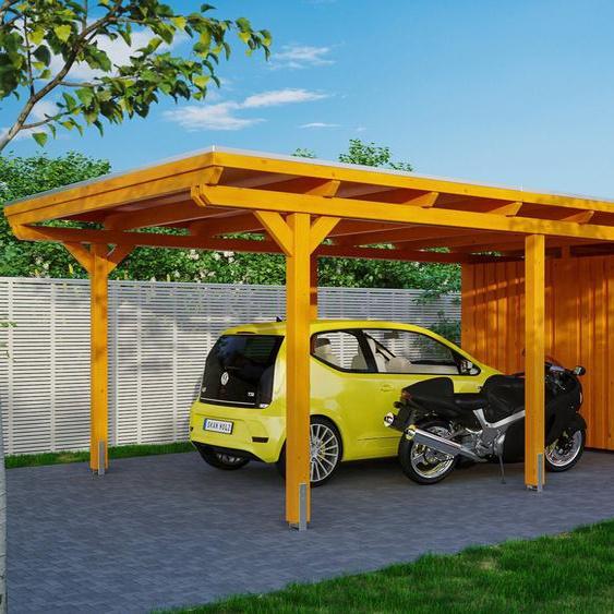 Einzelcarport »Emsland«, Skanholz, Material Fichtenholz