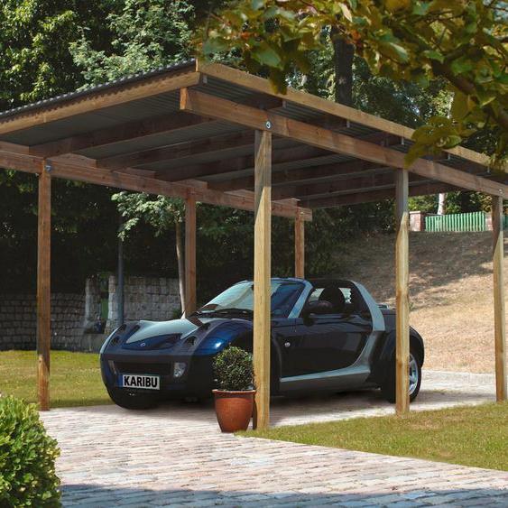 Einzelcarport »Eco 1«, Karibu, Material Fichtenholz