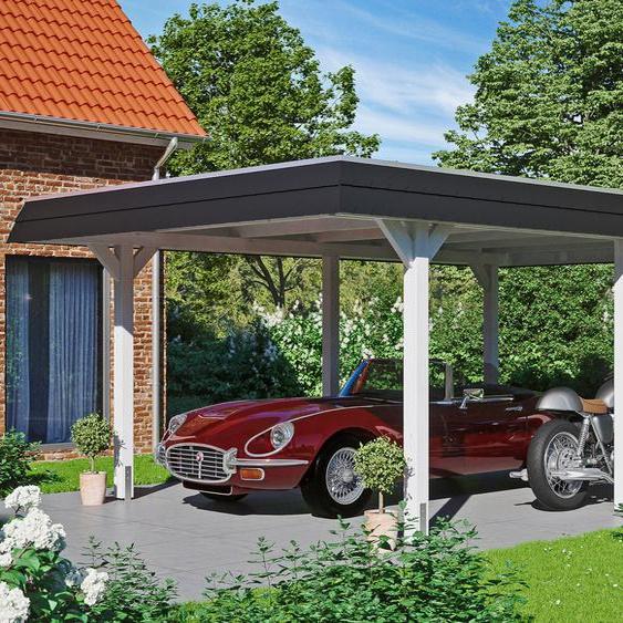 Einzelcarport »Wendland«, Skanholz, weiß, Material Fichtenholz