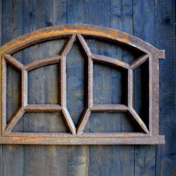 Eisenfenster ausgefallen schönes Fenster, Stallfenster,  Garage, De Spin 89 x 54