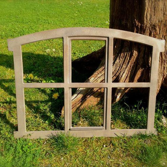 Eisenfenster für Gartenmauer, Stallfenster, Fenster für antike Mauer-Poka-57x42