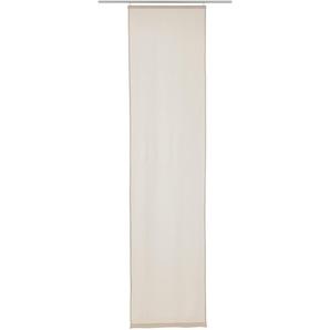 Elbersdrucke Schiebegardine  »LINO«, H/B 245/60 cm, beige, blickdichter Stoff