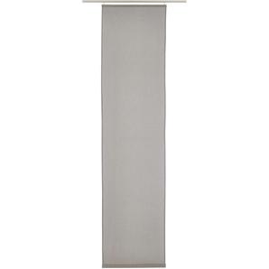 Elbersdrucke Schiebegardine  »LINO«, H/B 245/60 cm, grau, blickdichter Stoff