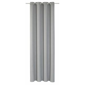 Elbersdrucke Vorhang »LINO«, H/B 255/140 cm, grau, blickdichter Stoff