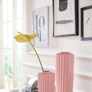 elbgestoeber Dekovase elbdalbe H: 32 cm Ø 11 rosa Blumenvasen Pflanzgefäße Wohnaccessoires