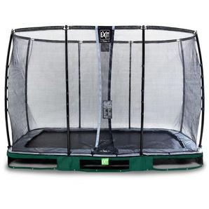EXIT Elegant Premium Inground-Trampolin 214x366cm mit Deluxe Sicherheitsnetz - grün