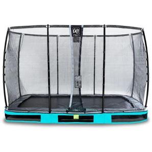 EXIT Elegant Premium Inground-Trampolin 244x427cm mit Deluxe Sicherheitsnetz - blau