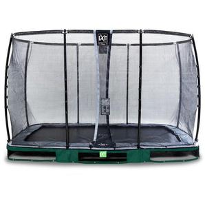 EXIT Elegant Premium Inground-Trampolin 244x427cm mit Deluxe Sicherheitsnetz - grün