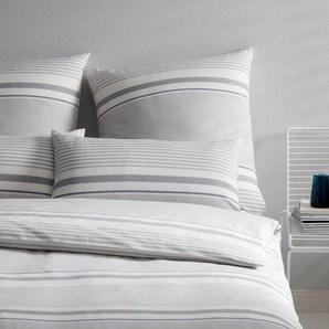 Elegante Bettwäsche Comeback, angenehmes Hautgefühl B/L: 155 cm x 220 (1 St.), 80 Buntgewebe grau 135x200 nach Größe Bettwäsche, Bettlaken und Betttücher