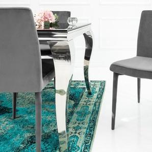 Eleganter Design Stuhl MILANO grau Samt
