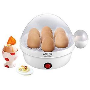 Elektrischer Eierkocher | Edelstahl Eier Kocher | Egg Cooker | 1-7 Eier | Eier 450 Watt | Edelstahlheizplatte | Automatische Abschaltung | Kontrollleuchte |