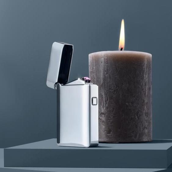 Elektrisches Feuerzeug - Silberfarben -