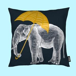 Elephant with Umbrella - Kissen