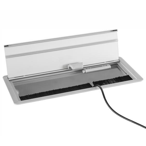 ELKL 31 | Kabelklappe (ohne Elektrifizierung) | inkl. Einbau - Silber