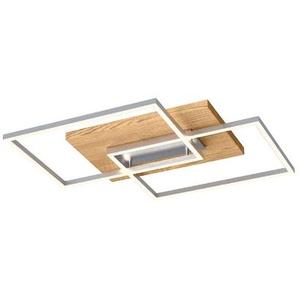 Elobra LED-Deckenleuchte, Holz 56 x 56 cm