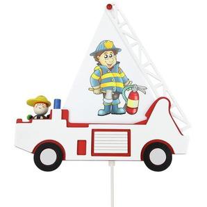 Wandleuchte Feuerwehrauto
