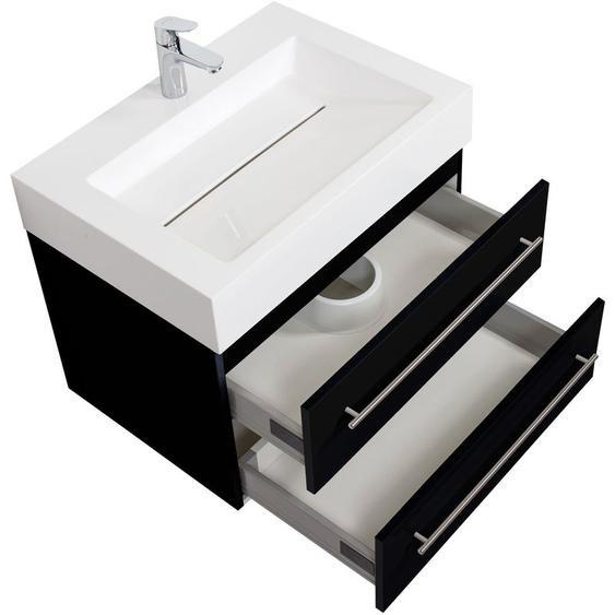 Emotion - Badmöbel Design 700 schwarz seidenglanz