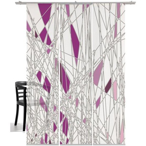 Schiebegardine, Labyrinth, emotion textiles, Klettband 3 Stück