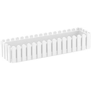 Emsa 956751200 Bllumenkasten Landhaus, 75 x 20 x 16 cm weiß