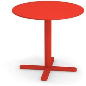 Emu - Darwin Tisch rund - rot - Ø 60 - outdoor