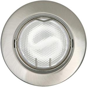 Energiespar-Einbauleuchte Nickel