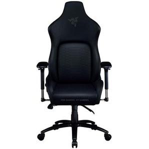 Enki X Gaming-Stuhl mit integrierter Lendenwirbelstütze, Schreibtisch/Bürostuhl, mehrschichtiges Kunstleder, Schaumstoffpolsterung, Kopfpolster, höhenverstellbar, schwarz/grün