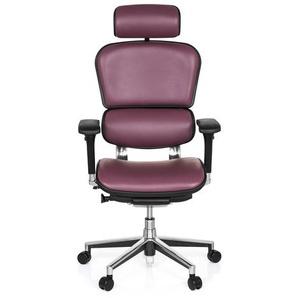 ERGOHUMAN Leder - Luxus Chefsessel Violett